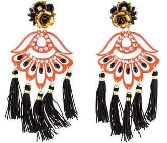 Mercedes Salazar Dyed Quartzite Petite Aurora Aretes Fiesta Earrings