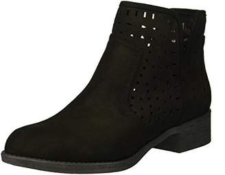 Rampage Women's Chuck Casual Pull On Side Cut Out Perforated Comfortable Low Heel Ankle Boot