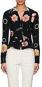 Narciso Rodriguez Women's Floral Silk Blouse - Black Multi