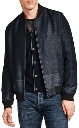The Kooples Versatile Mixed Weave Bomber Jacket $545 thestylecure.com