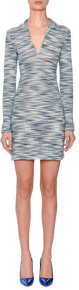 Missoni Long-Sleeve Collared Space-dye Polo Dress