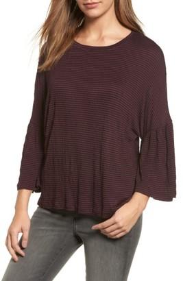 Women's Caslon Stripe Bell Sleeve Tee $39 thestylecure.com