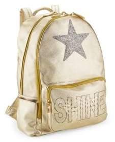 Bari Lynn Shine Star Metallic Backpack