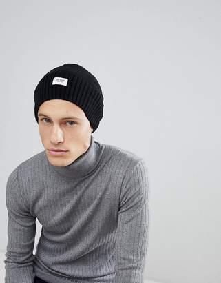 Esprit Oversized Beanie In Black Wool Blend