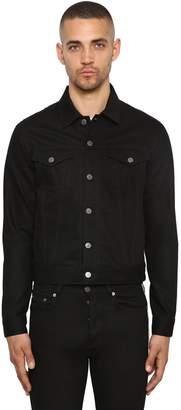 Givenchy Cotton Denim Jacket W/ Logo Side Bands