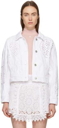 Isabel Marant White Denim Embroidered Rena Jacket