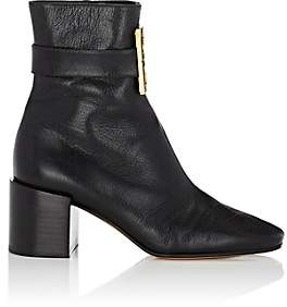 Givenchy Women's Logo-Embellished Leather Ankle Boots - Black