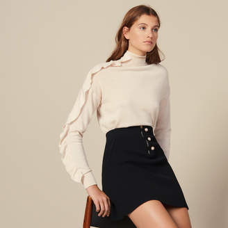 Sandro Short A-Line Knit Skirt