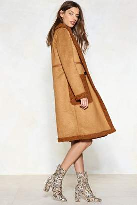 Nasty Gal In the Fur-eseeable Future Faux Fur Shearling Coat
