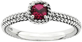 JCPenney FINE JEWELRY Personally Stackable Checker-Cut Lab-Created Ruby Ring