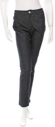 Oscar de la Renta Straight-Leg Mid-Rise Jeans