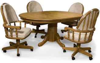 Asstd National Brand Oakmont 48 Pedestal 5-pc. Dining Set - Swivel Chairs