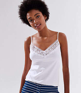 LOFT Diamond Lace Clean Cami