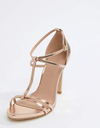 New Look Metallic T-Bar Sandal