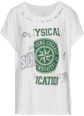 Current/Elliott Paneled Printed Cotton-Jersey T-Shirt