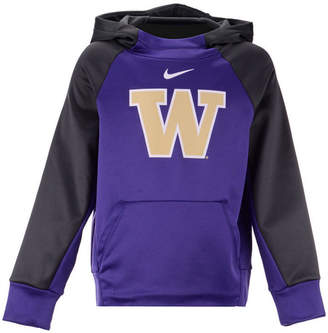 Nike Washington Huskies Therma Color Block Hoodie, Big Boys (8-20)