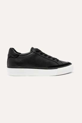 Rag & Bone Army Suede-trimmed Leather Sneakers - Black