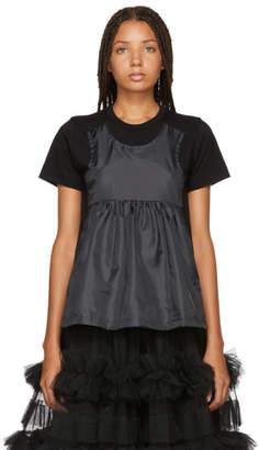 Comme des Garcons Black Taffeta Tank Panel T-Shirt