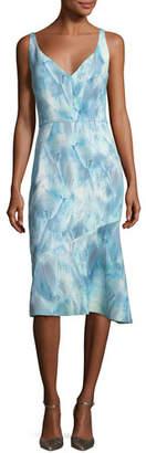 Elie Tahari Yirma Graphic-Print Sleeveless Dress