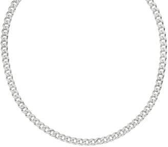 "Italian Silver 18"" Round Curb Link Chain, 34.4g"
