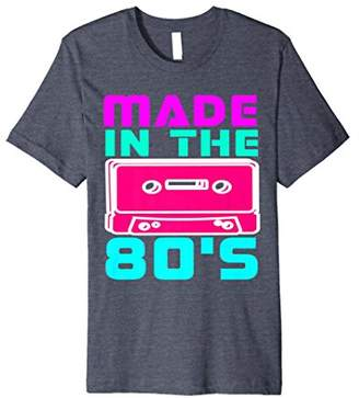 I Love 80s Tees Made In the 80's Retro Vintage Neon T Shirt