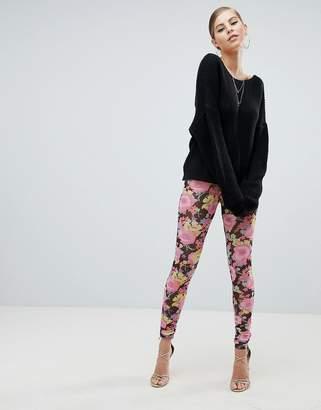 Asos Design Leggings in Mesh with Floral Print