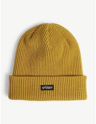 101cd8e7fce at Selfridges · Stussy Branded patch beanie hat