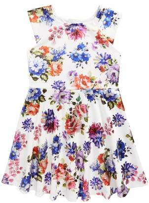 Pippa Pastourelle by and Julie Floral Print Scuba Dress (Big Girls)