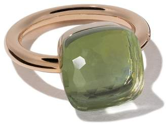 Pomellato 18kt rose gold and 18kt white gold Nudo Maxi ring
