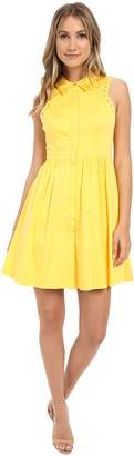 Jessica Simpson Cotton Satin Shirtdress Women's Dress