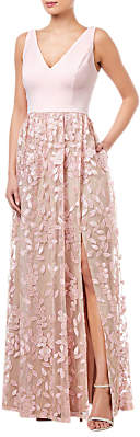 Adrianna Papell Embellished Tulle Dress, Satin Blush