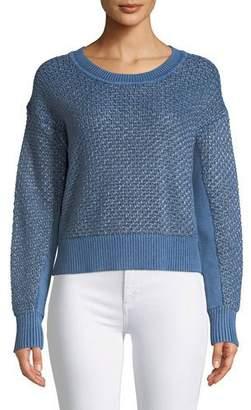 Rag & Bone Kyra Crewneck Metallic Knit Pullover