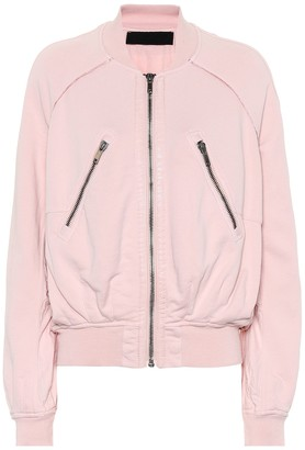 Haider Ackermann Cotton jersey bomber jacket
