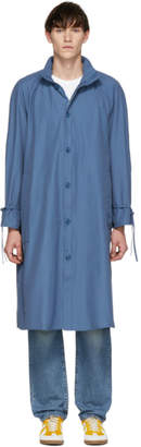 Bianca Chandon Blue Packable Hood Raincoat