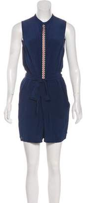 Tory Burch Sleeveless Silk Romper