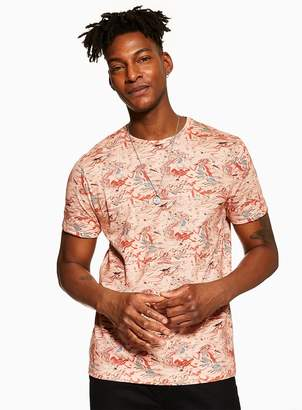 Ecru Marble Printed T-Shirt
