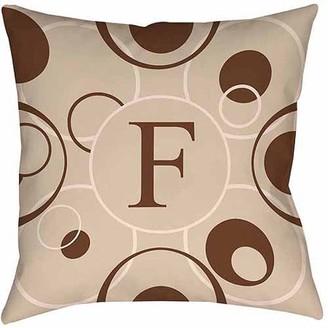 Thumbprintz Circle Variations Monogram Neutral Decorative Pillows