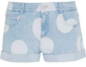 Stella McCartney Bleached Denim Shorts