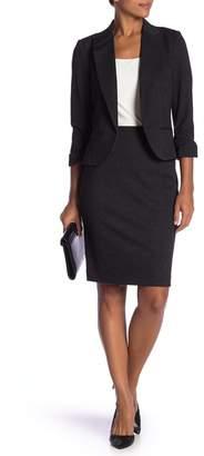 Amanda & Chelsea Crosshatch 3\u002F4 Length Ponte Knit Pencil Skirt