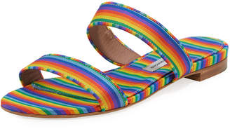 Tabitha Simmons Loopsey Striped Two-Band Flat Sandal
