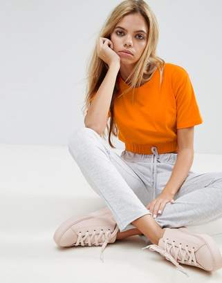 ASOS Crop T-Shirt with Gathered Hem $18.50 thestylecure.com