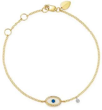 Meira T 14K Yellow Gold & 14K White Gold Evil Eye Diamond & Enamel Bracelet