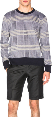 Thom Browne Oversize Check Pique Long Sleeve Tee $440 thestylecure.com