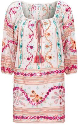 Juliet Dunn Cotton Embroidered Tunic