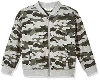 Kid Nation Kids French Terry Camouflage Long Sleeve Zip-up Jacket with Pockets for Boys or Girls S