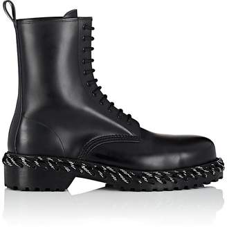Balenciaga Men's Lacing-Detailed Leather Boots