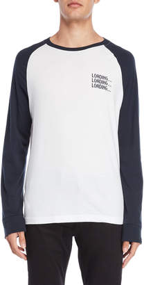 Original Penguin Loading Long Sleeve Baseball Tee
