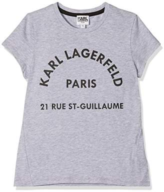 Karl Lagerfeld Girl's Z15124 T-Shirt,(Manufacturer Size: 14A)