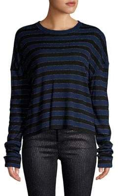 RtA Emmet Stripe Long-Sleeve Top