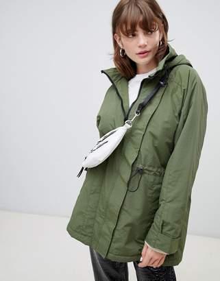 Asos Design DESIGN fleece lined anorak
